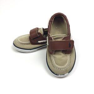 Ralph Lauren Tan & Brown Casual Sneakers Size 6